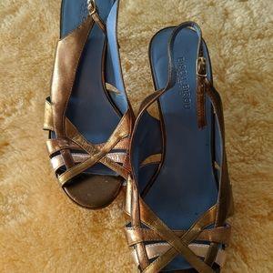 Bisou Bisou Mettalic Leather Heels